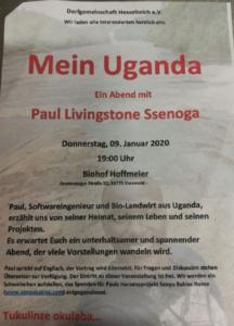 Paul berichtet über sein Uganda